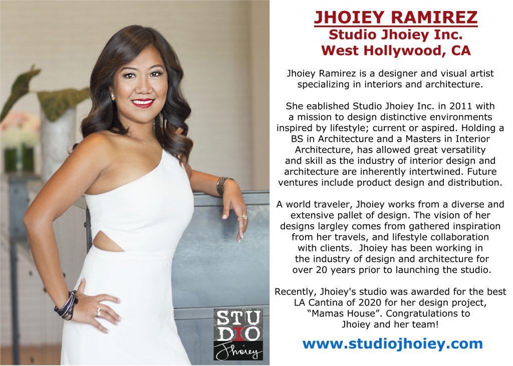 JHOIEY RAMIREZ, STUDIO JHOIEY INC.